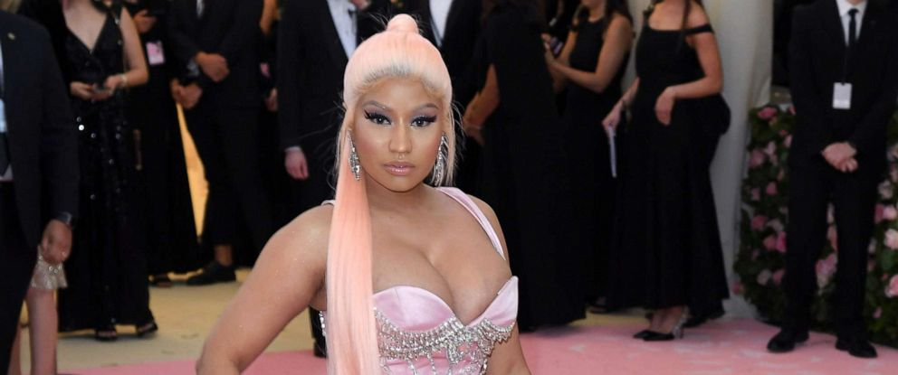 PHOTO: Nicki Minaj arrives for the 2019 Met Gala celebrating Camp: Notes on Fashion at The Metropolitan Museum of Art, May 6, 2019, in New York City.