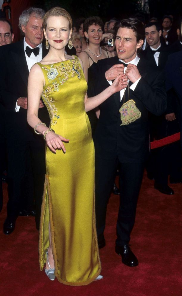 Nicole Kidman and Tom Cruise attend the 69th annual Academy Awards, March 24, 1997.