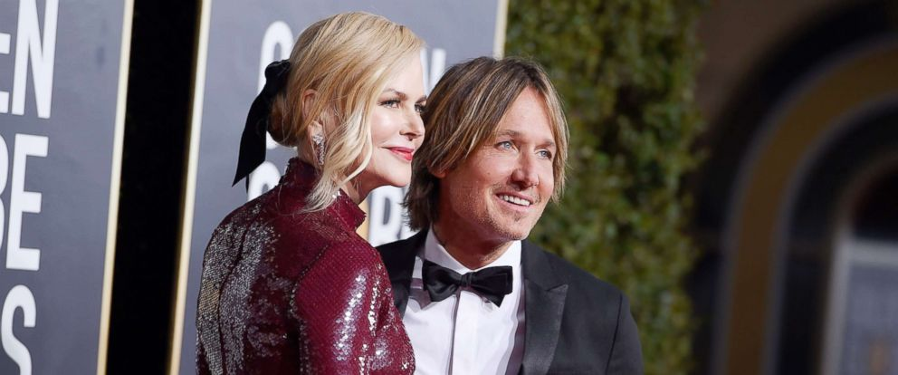 PHOTO: Nicole Kidman and Keith Urban arrive at the 76th annual Golden Globe Awards at the Beverly Hilton Hotel, Jan. 6, 2019, in Beverly Hills, Calif.