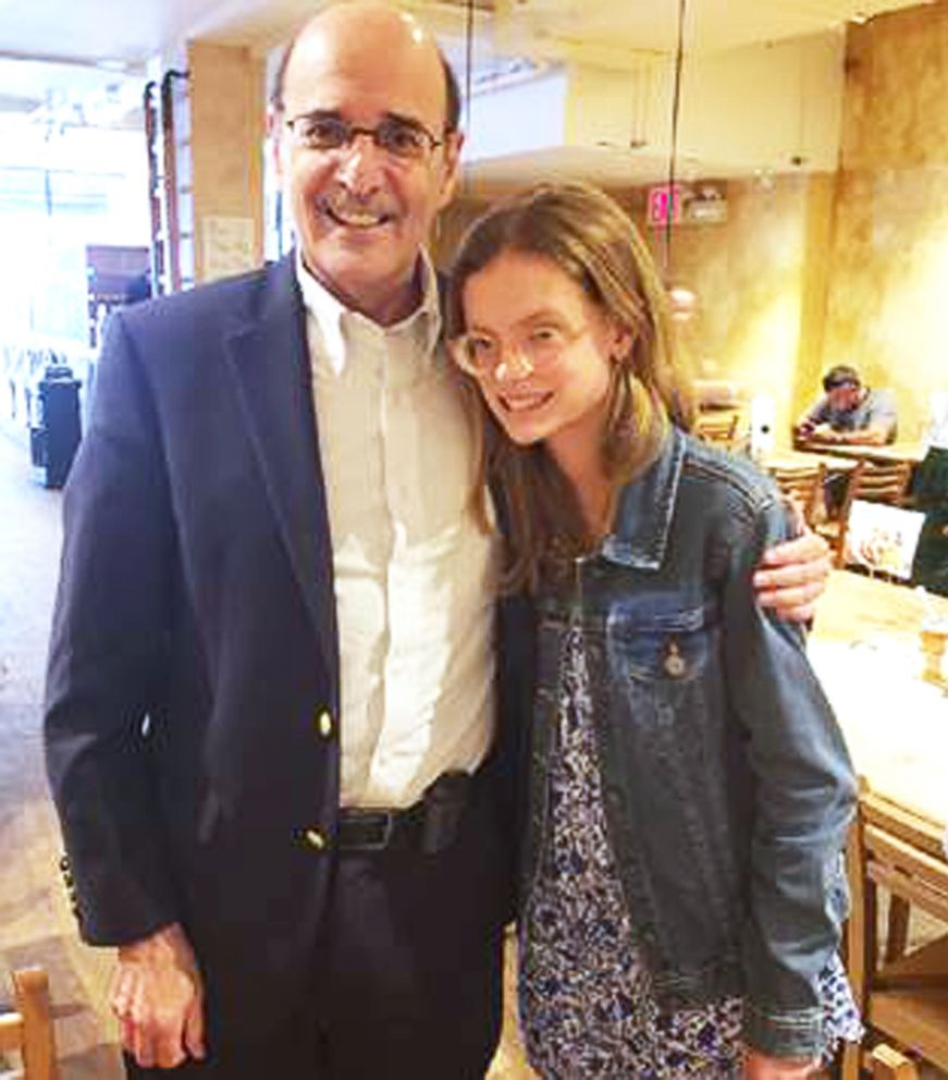 PHOTO: Isabella Ciriello meets Dr. Perlman for the first time since she was five.