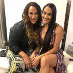 WWE stars Nikki Bella and Nix Jax attend theCURVYcon.
