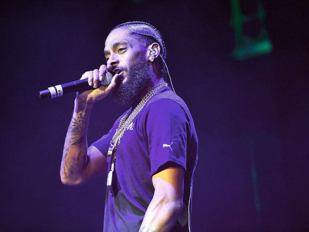PHOTO: Rapper Nipsey Hussle performs at Glen Helen Amphitheatre, May 12, 2018 in San Bernardino, Calif.