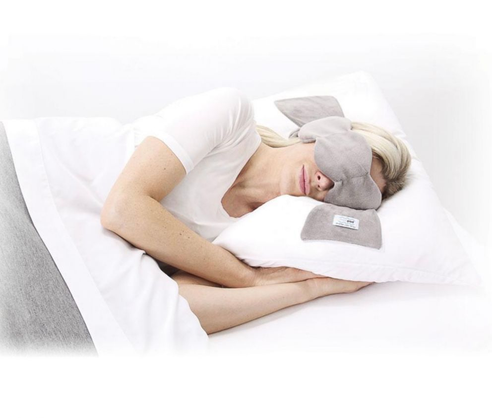 A nodpod weighted sleep mask is pictured here.