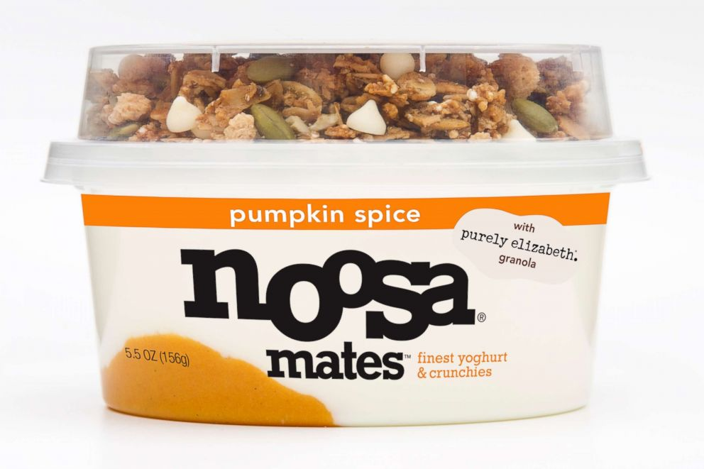 PHOTO: Noosa pumpkin spice flavored Greek Yoghurt.