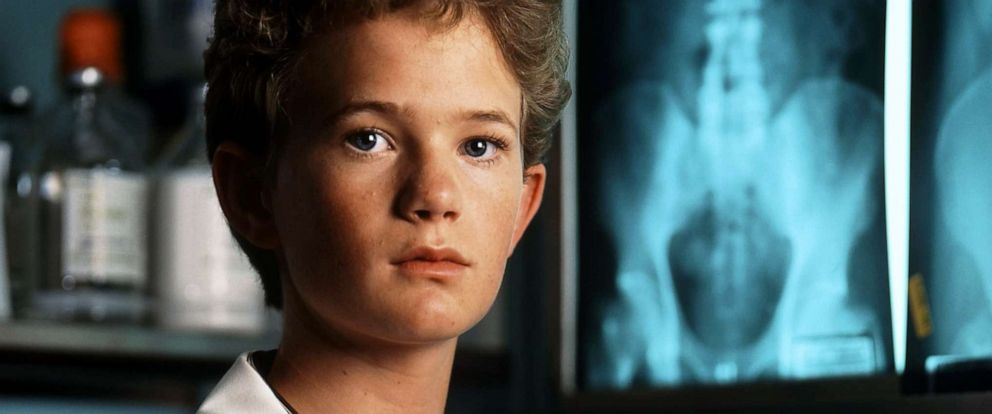 """PHOTO: Actor Neil Patrick Harris poses for a portrait on the set of """" Doogie Howser, M.D"""" in 1989."""