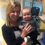 Angela Farnan, a primary charge nurse in the pediatric intensive care unit at OSF Children's Hospital of Illinois, adopted her son Blaze, 1, after caring for him in the ICU.