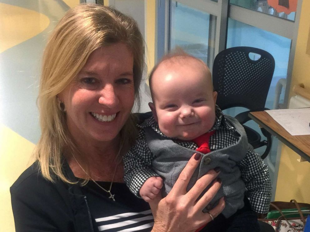 PHOTO: Angela Farnan, a primary charge nurse in the pediatric intensive care unit at OSF Childrens Hospital of Illinois, adopted her son Blaze, 1, after caring for him in the ICU.