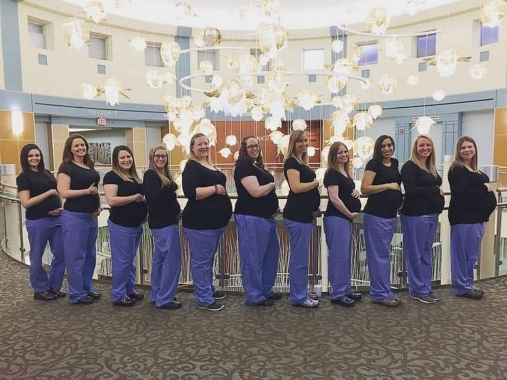 PHOTO: Eleven nurses are pregnant at the Miami Valley Hospital in Dayton, Ohio.