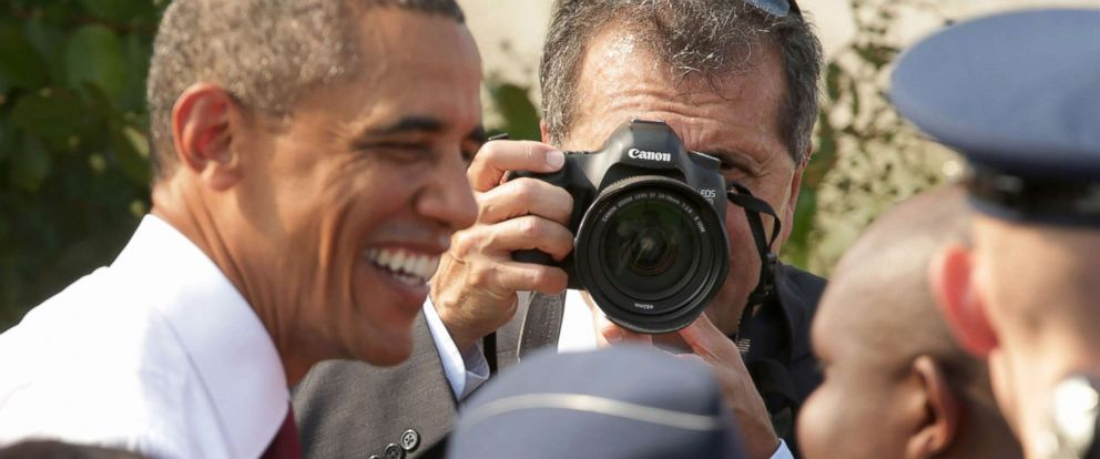 PHOTO: In this file photo, White House photographer Pete Souza makes images of President Barack Obama during a ceremony in observance of the terrorist attacks at the Pentagon, Sept. 11, 2013 in Arlington, Va.