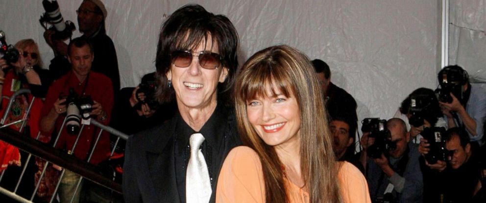 "PHOTO: Ric Ocasek and his wife Paulina Porizkova pose at the Metropolitan Museum of Art Costume Institute Gala, ""The Model As Muse: Embodying Fashion"" in New York, May 4, 2009."