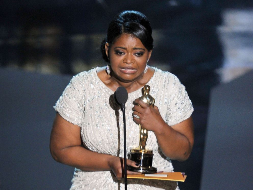 PHOTO: Actress Octavia Spencer accepts the best supporting actress award for The Help during the 84th annual Academy Awards, Feb. 26, 2012, in Hollywood, Calif.