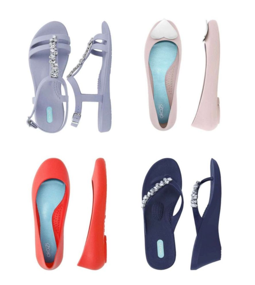 Oka-B sandals and flats are pictured here.
