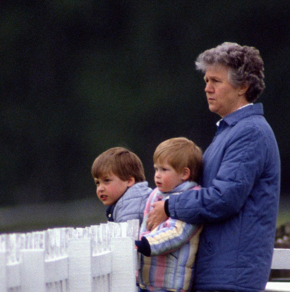PHOTO: Royal Nanny Olga Powell With Prince William and Prince Harry at a Polo Match In Windsor, May 17, 1987.