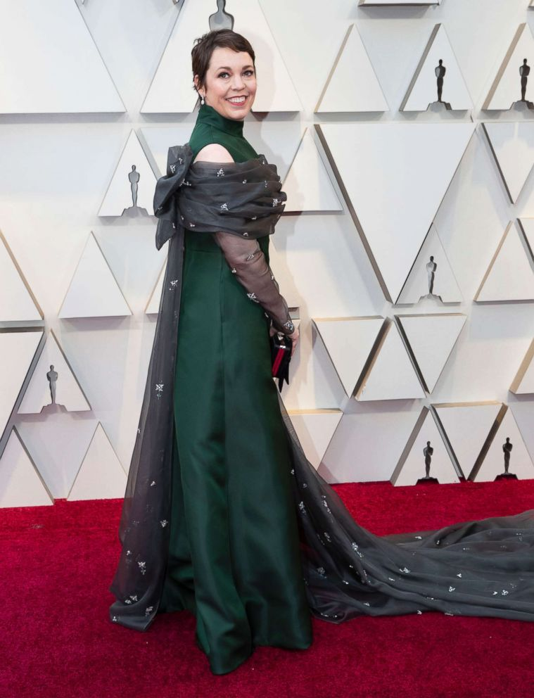 PHOTO: Olivia Coleman on the red carpet, Feb. 24, 2019, as she arrives for the Oscars in Hollywood, Calif.