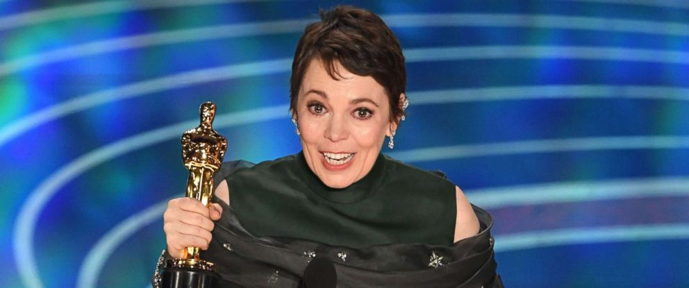 """PHOTO: Best Actress nominee for """"The Favourite"""" Olivia Colman accepts the award for Best Actress during the 91st Annual Academy Awards at the Dolby Theatre in Hollywood, Calif., Feb. 24, 2019."""