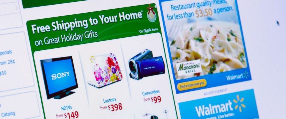 PHOTO: In this file photo, Wal-Mart Stores Inc. holiday shopping specials are displayed on a computer screen in New York, Nov. 11, 2010.