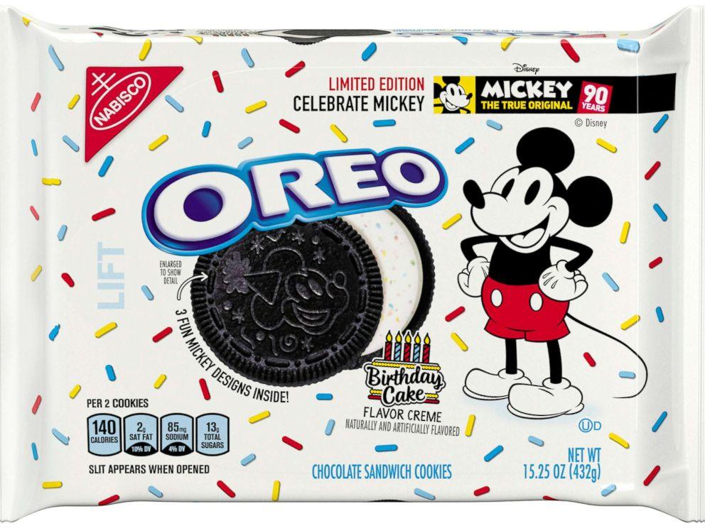 Fabulous New Birthday Cake Flavored Oreos Celebrate Mickey Mouses 90Th Funny Birthday Cards Online Elaedamsfinfo