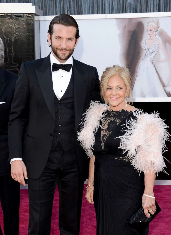 PHOTO: Bradley Cooper and mother Gloria Cooper arrive at the Academy Awards.