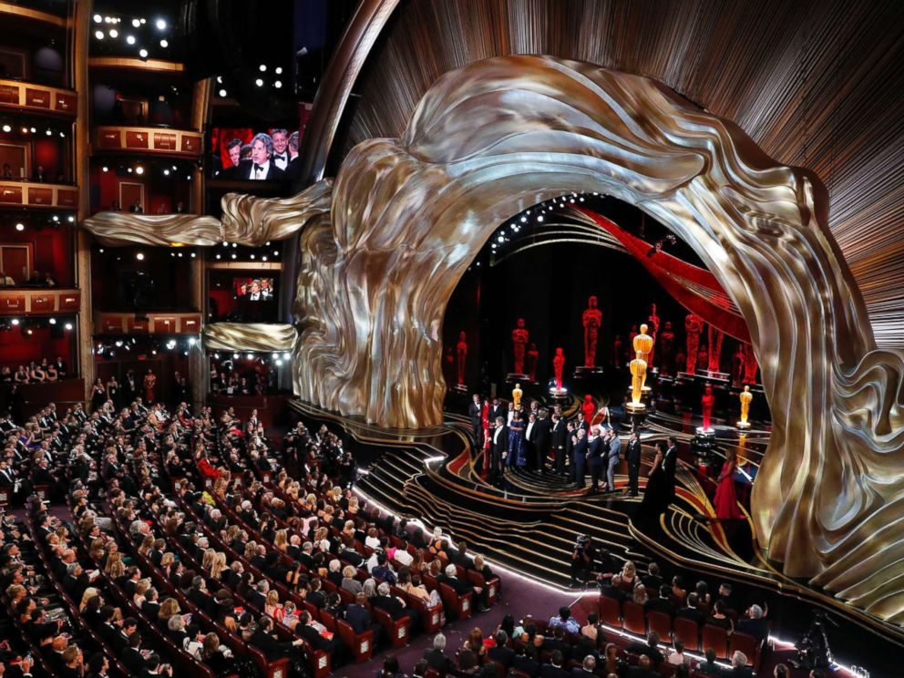 PHOTO: The best picture is awarded to Green Book at Dolby Theatre during the Oscars, Feb. 24, 2019, in Los Angeles.
