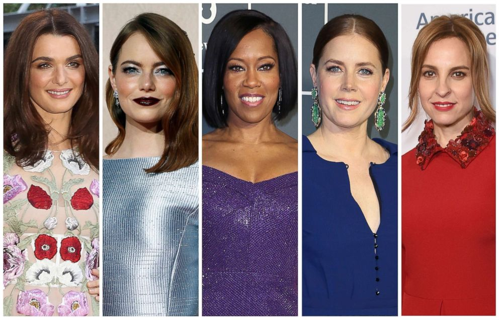 PHOTO: Best supporting actress Oscar nominees for the 91st annual Academy Awards, from left, Rachel Weisz, Emma Stone, Regina King, Amy Adams and Marina de Tavira.