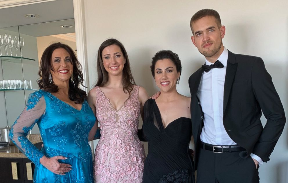 PHOTO: Melissa Berton, Helen Yenser, Rayka Zehtabchi, Sam Davis pose for a photo.