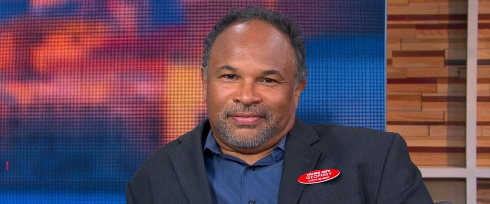 "PHOTO: Geoffrey Owens, actor of The Cosby Show, appeared live on ""Good Morning America"" on Sept. 4."