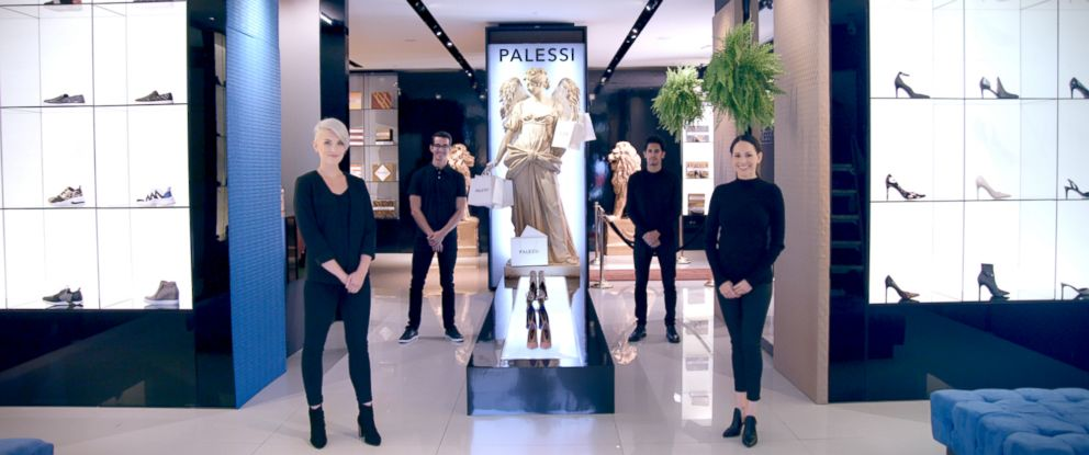 "PHOTO: Payless shoes rebrands as luxury store ""Palessi"" for an ad campaign, and people spent hundreds of dollars on their $20 shoes."