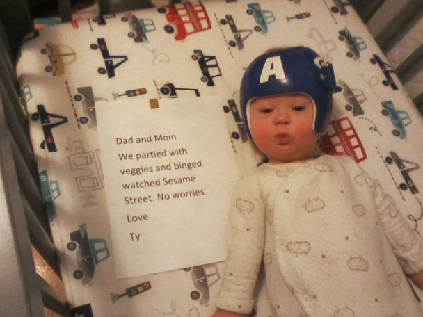 Low tech' pawpaw sends adorable memes of grandson while