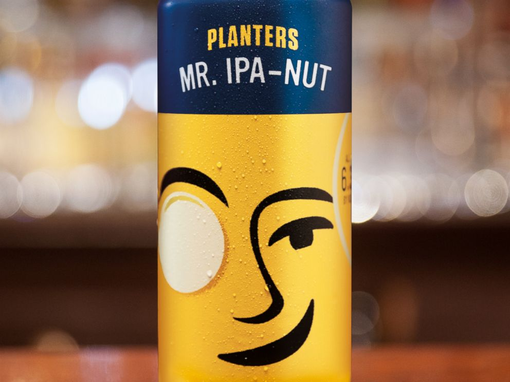 Planters launches Mr. IPA-Nut craft beer - ABC News on planters snack mix, planters peanuts candies, peanuts fruit snacks, planters mixed nuts, planters corn snacks,