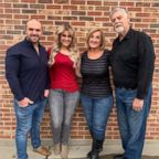 David and Sarah Bentley, left, and Steven and Debbie Hoffman are pictured after their weight loss.