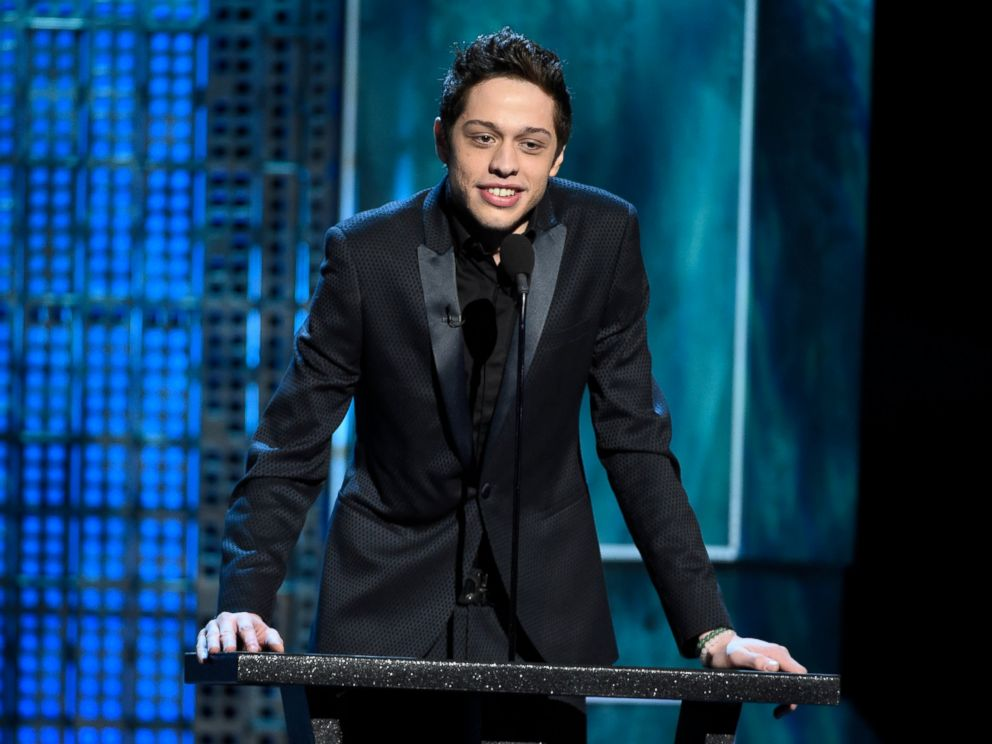 PHOTO: In this March 14, 2015, file photo, Pete Davidson speaks at a Comedy Central Roast at Sony Pictures Studios in Culver City, Calif.