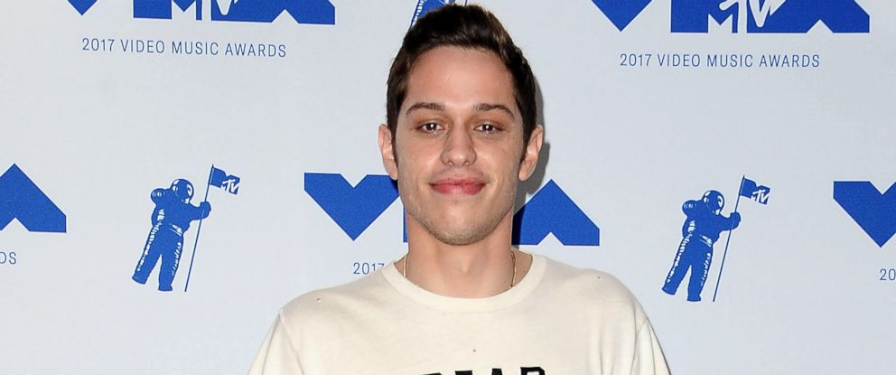 PHOTO: Pete Davidson poses in the press room at the 2017 MTV Video Music Awards at The Forum, Aug. 27, 2017, in Inglewood, Calif.