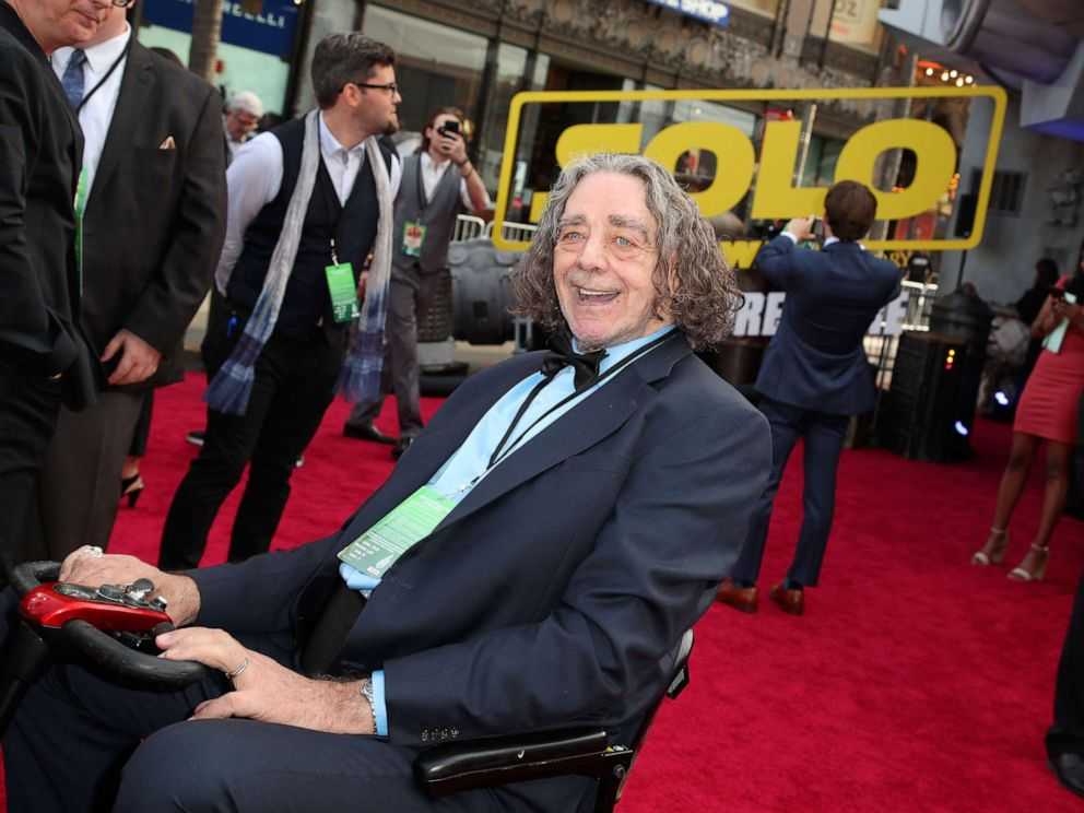 PHOTO: Peter Mayhew attends the Solo: A Star Wars Story, film premiere in Los Angeles, May 10, 2018.