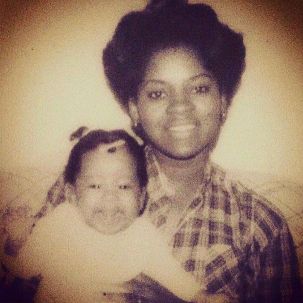 PHOTO: Phoebe Robinson and her mother pose in an undated childhood photo.