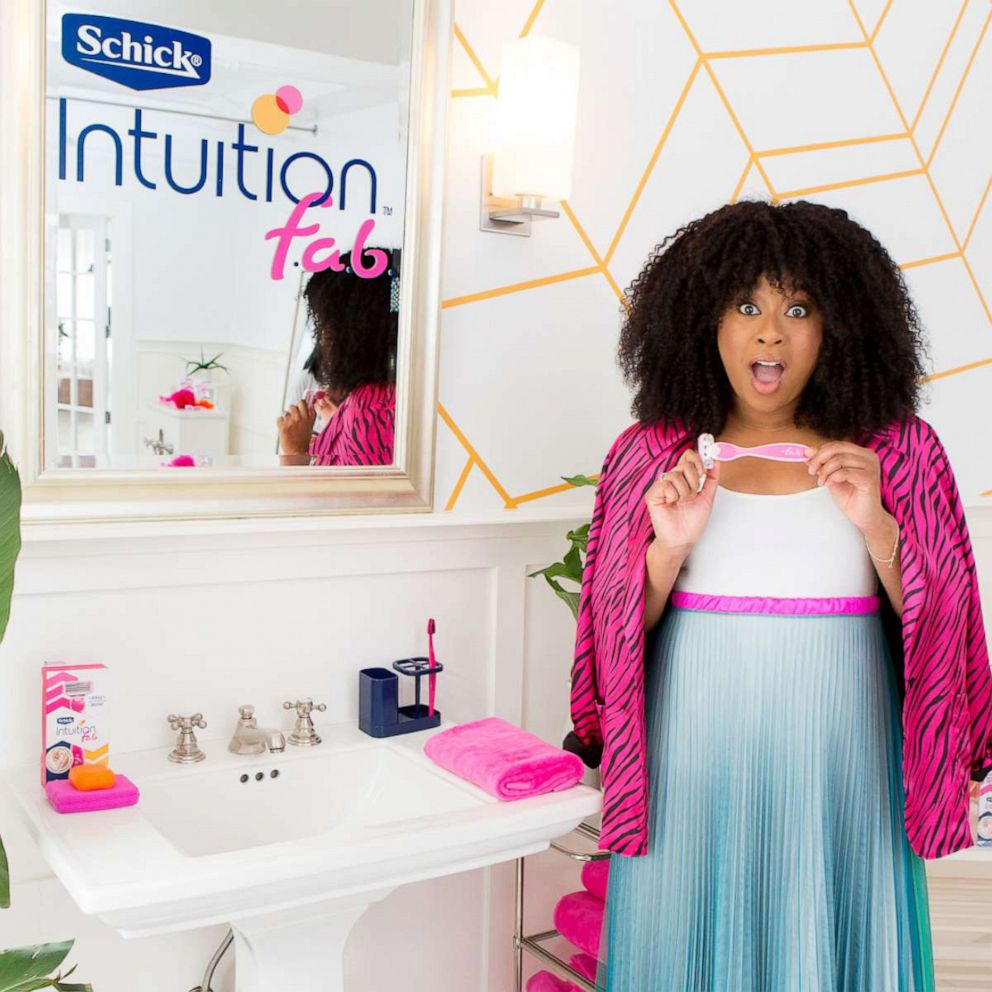 PHOTO: Phoebe Robinson on set of her campaign shoot for Schick Intuition f.a.b.