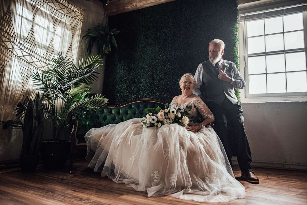 PHOTO: Ginger and George Brown of South Carolina, celebrated 60 years of marriage with a styled shoot photographed by their very own granddaughter.