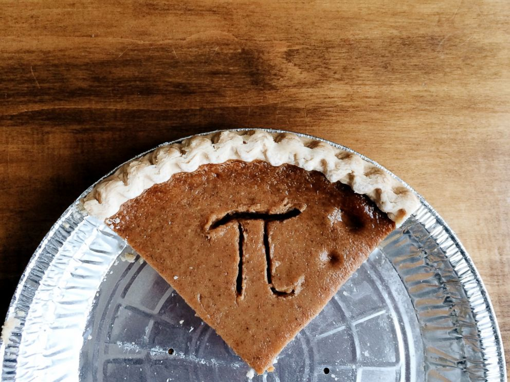 PHOTO: Pi symbol on a slice of pie is seen in this stock photo.