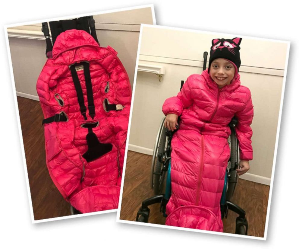 Zoey Harrison, 9, was born with cerebral palsy and uses a wheelchair to get around.
