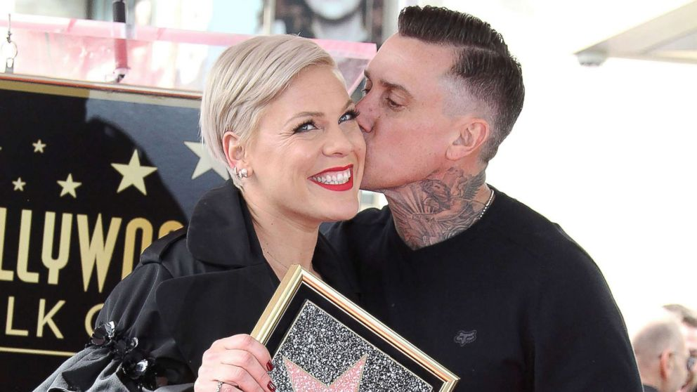 Pink is honored with a star on the Hollywood Walk of Fame in Los Angeles, Feb. 05, 2019.