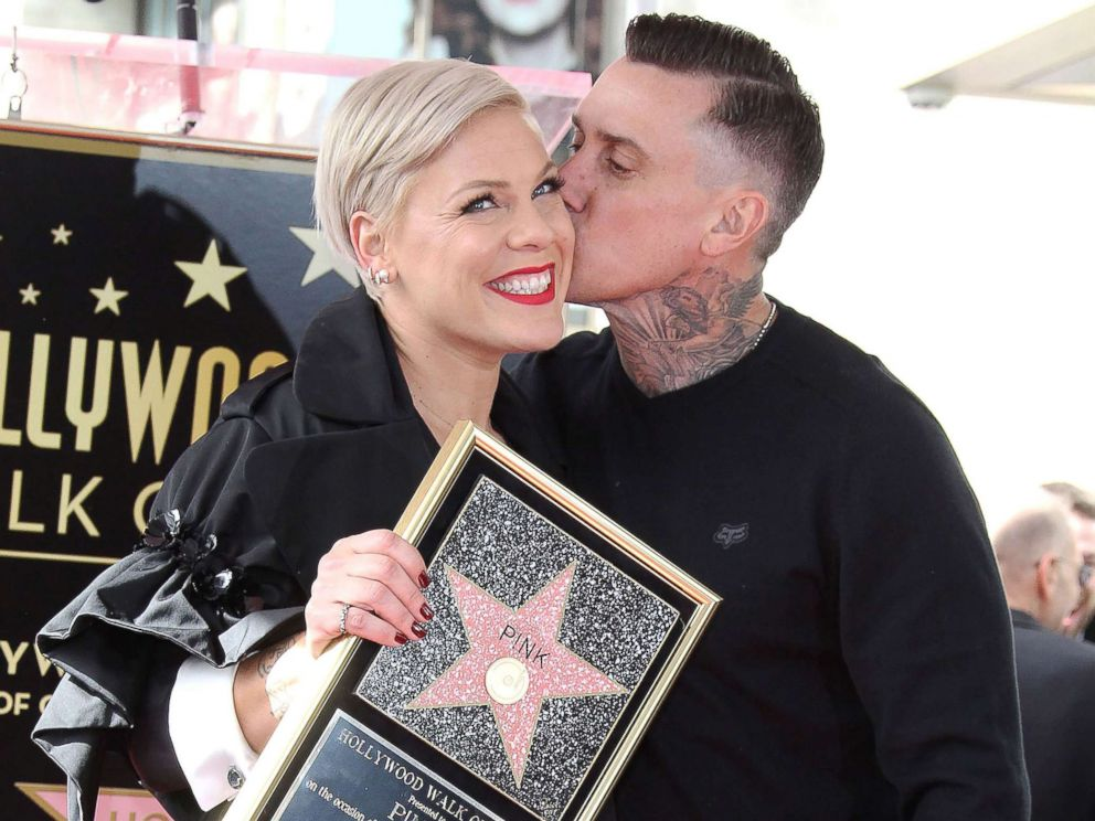 PHOTO: Pink is honored with a star on the Hollywood Walk of Fame in Los Angeles, Feb. 05, 2019.