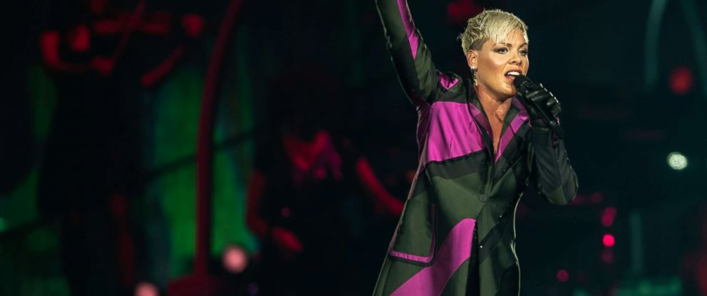 PHOTO: Pink performs at Brisbane Entertainment Centre, Aug. 14, 2018, in Brisbane, Australia.