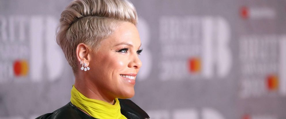 PHOTO: Pink attends The BRIT Awards 2019 held at The O2 Arena, Feb. 20, 2019, in London.