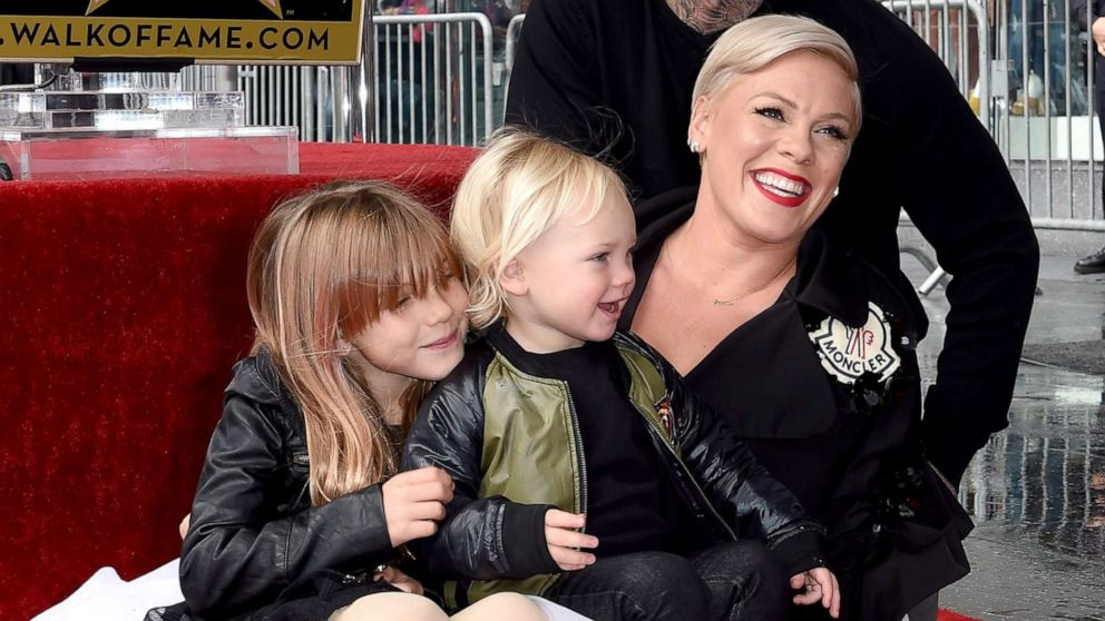 Pink hits back at 'disgusting' online trolls who criticized photo of two-year-old son