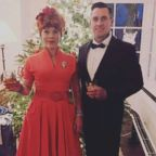 Singer Pink is pictured with her husband, Carey Hart, in a photo posted to her Instagram account on Dec. 15, 2018.