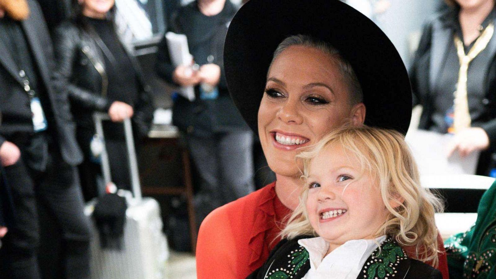 Watch Pink's son Jameson make an adorable birthday wish   GMA