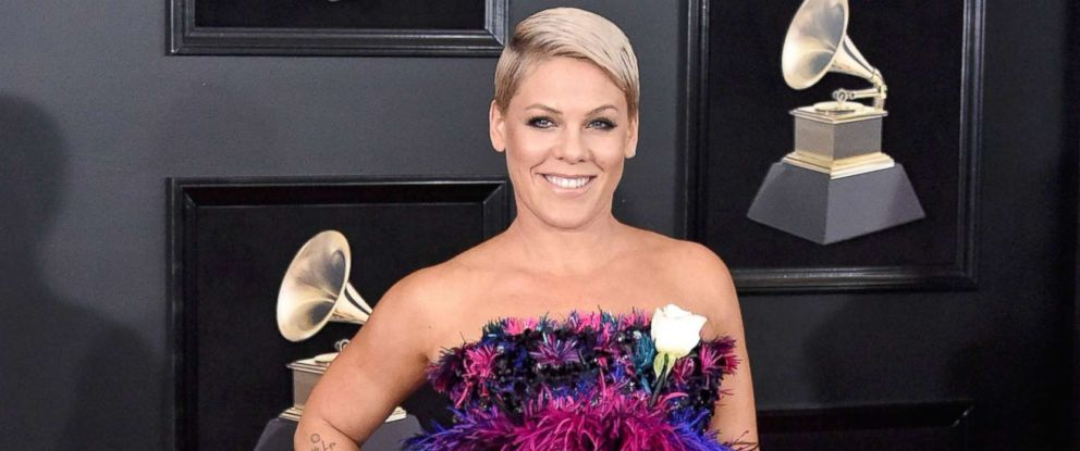 PHOTO: Recording artist Pink attends the 60th Annual GRAMMY Awards at Madison Square Garden on Jan. 28, 2018 in New York City.