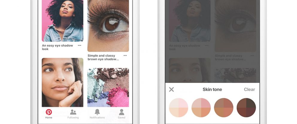 PHOTO: Pinterest is launching a search feature that allows you to filter results by skin tone.