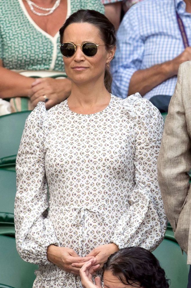 PHOTO: Pippa Middleton attends day eleven of the Wimbledon Tennis Championships, July 13, 2018, in London.