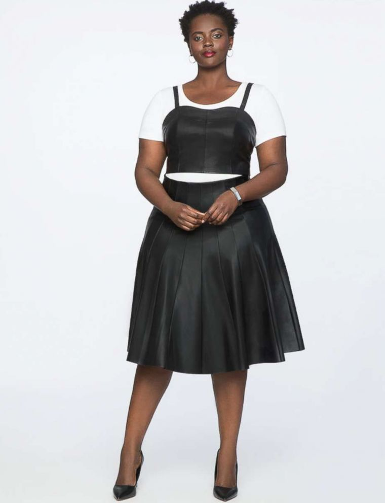 PHOTO: Eloquii Studio Faux Leather Pleated Skirt