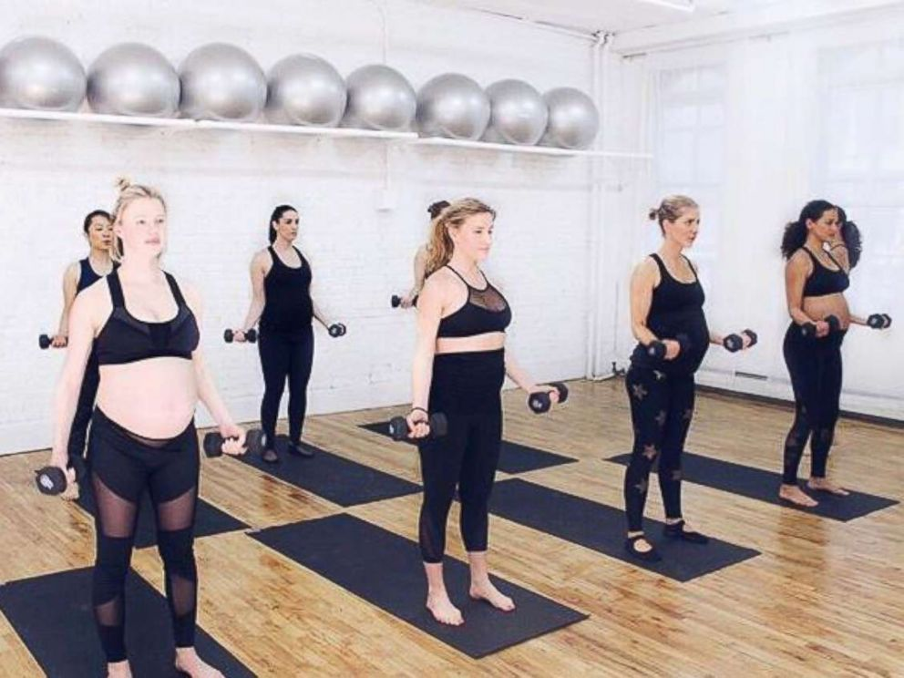 PHOTO: Pregnant women take a class at Fit Pregnancy Club in New York City.